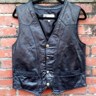 Gentleman leather vest