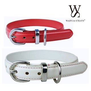 Wes [W & S] Infusion Leather Collar - size M - red