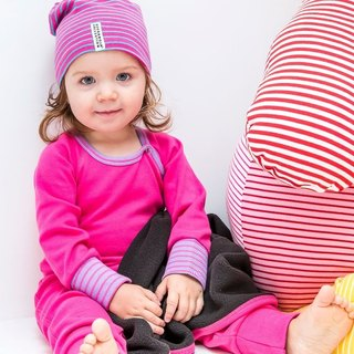 [Sweden] made of organic cotton cover Dudu pants Baby pink (for 2M-24M) Infant