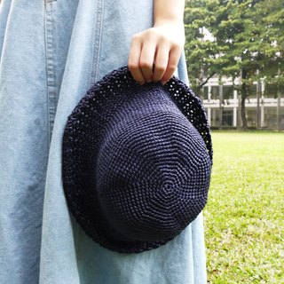 Mama の hand made hat - Fall Zhisheng cap - simple round hat in blue / Mother's Day