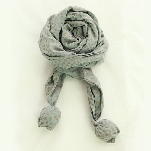 [KAKIBABY] patent natural persimmon dyeing - twist volume Scarf (blue, adults and children can usage)