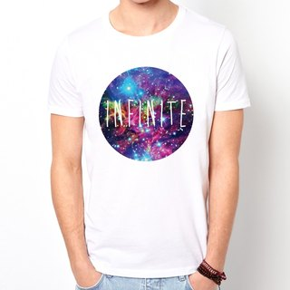 Infinite Galaxy T-shirt - white universe affordable fashion design own brand galactic fashion circle triangle