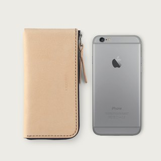 iPhone zipper phone case / wallet -- original skin color