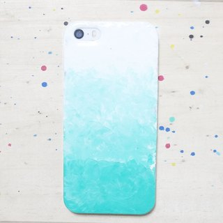 Gradient series ll mint green ll hand-painted oil painting phone case