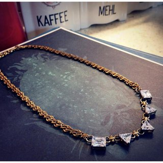 ∴Minertés = geometric zircon ‧ brass necklace ∴