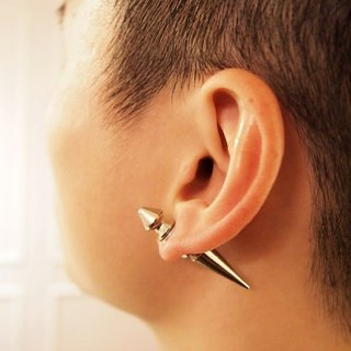Taiwan's original Double M metal rivets earrings