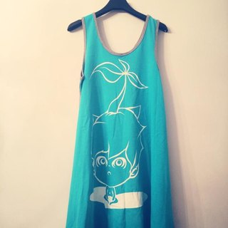 JokerMan original illustrations Dress - Summer Exclusive Limited · Marine Wind picnic · fresh [pure] Emerald
