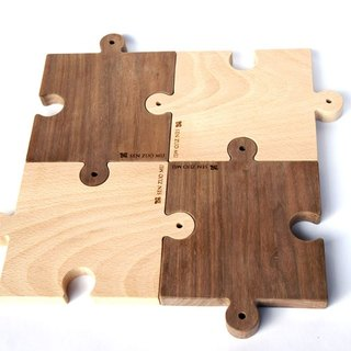 Vincenzo wood sen zuo mu / puzzle together meal plate (ㄧ group)
