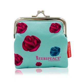 QQ tumbler iron purse - Blue