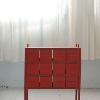 Industrial Wind drawer red metal cargo _
