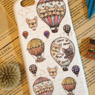 I6 / i6s Mobile Shell - Hot Air Balloon Fighter (White)