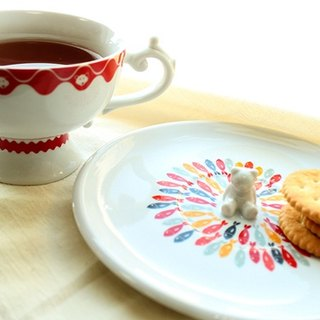 Peek a Boo cup and saucer set - Where's my salmon