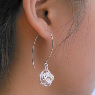 Forged Collection Forging collection Sterling Silver Earrings FGE001 Taiwanese designer handmade silver silver rose