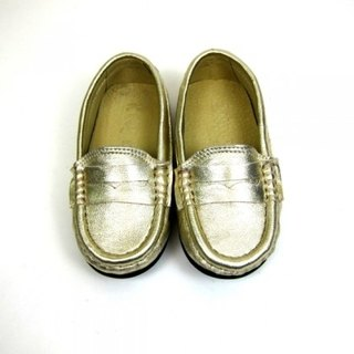 Fort Tony Wang leather handmade shoes kids [sheep / soled / Gold]