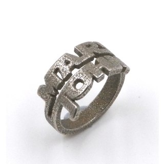 Customized jewelry rings - three-dimensional printing x Double Ring x Personalized