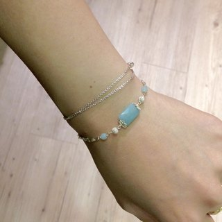 Department of Natural Stone _ water, Tianhe stone retro silver bracelet