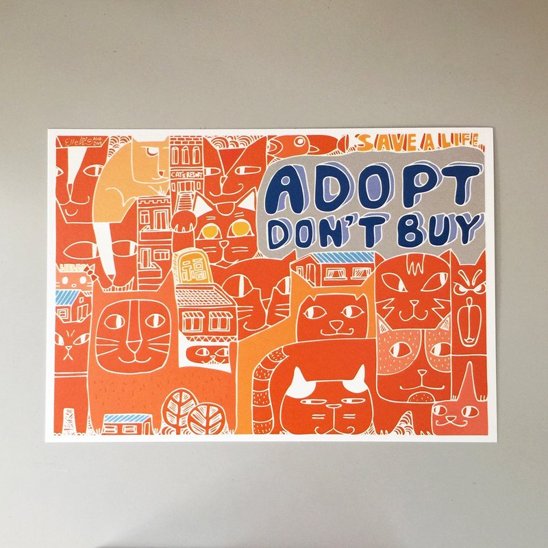 Postcard adoption instead of buying