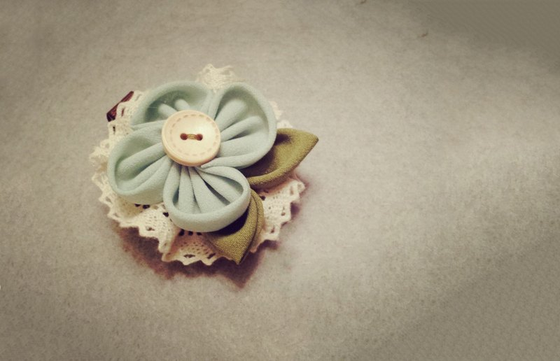 Handmade fabric flower accessory (clip/ band/ corsage)