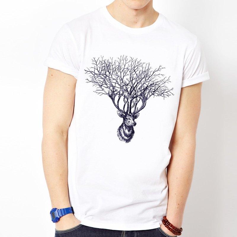 6f8ee37f0627 Deer Tree white gray t shirt - Designer hipster   Pinkoi