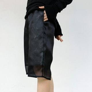 Gao fruit / GAOGUO original designer women's brand new stack through wild flower 100% silk shorts