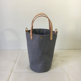 Simple bucket bag, washed ash