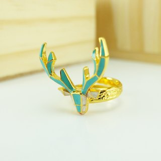 Glorikami Blue Deer Origami Ring