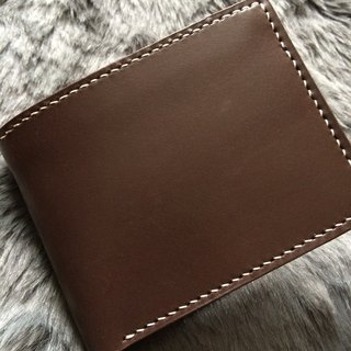 Rever leather hand-stitched Italian leather wallet brown leather wallet short paragraph wallet card bit four / two pocket / a phase / a bill to change the format bits