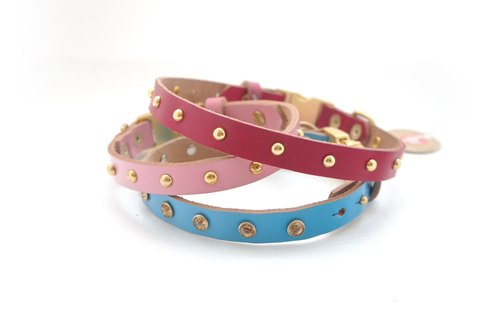 :::: :::: Quickdraw series handmade leather collar (S)