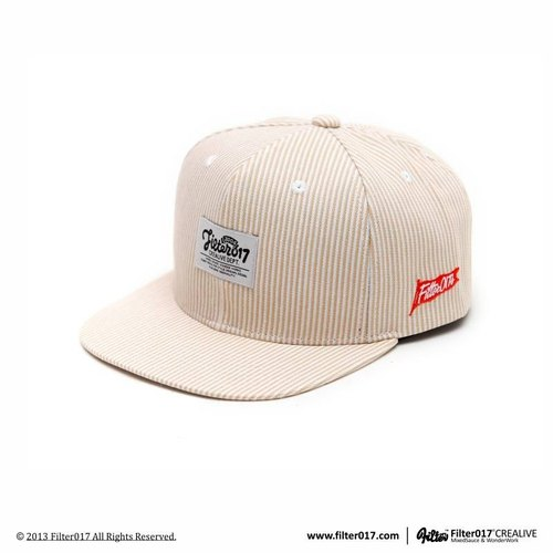Filter017 Stripe Denim Snapback Cap 條紋單寧後扣式棒球帽