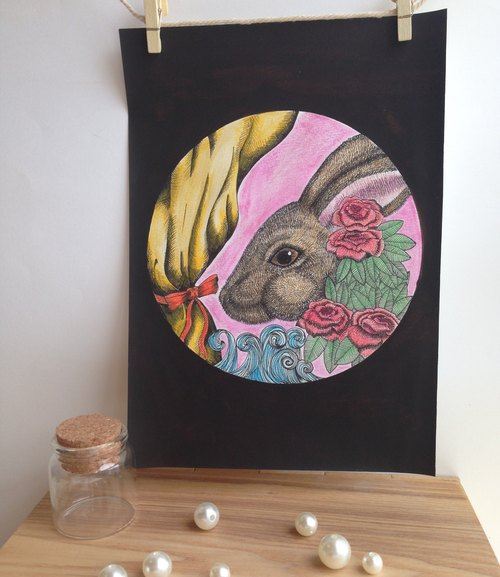 Illustration painted paintings [Rabbit Rabbit- Bunny Bunny] (Limited)