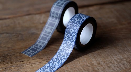 Old window grilles paper tape ◘ Begonia flowers glass
