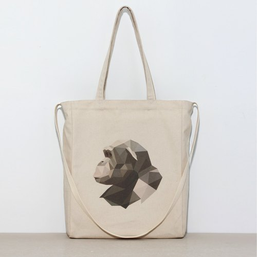 Bag / canvas / bag / gift _ [endangered animals - gorilla]