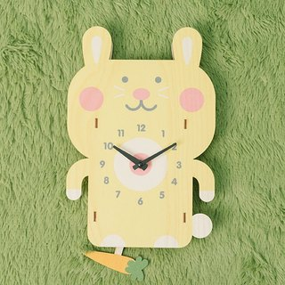 modern moose-3D clock-rabbit pendulum clock