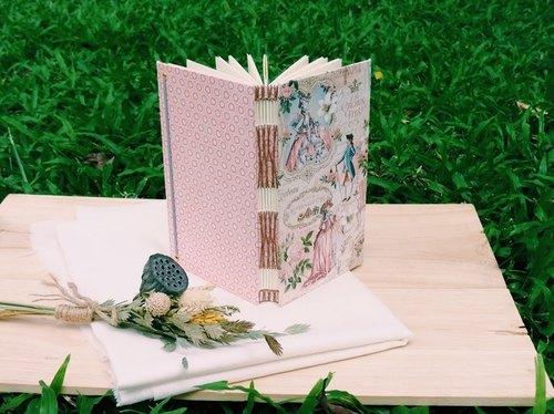 Miss crocodile ﹝ Marie Antoinette ﹞ French handmade wire-bound book