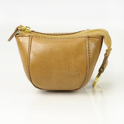 Eat eat rabbit purse / leather (Camel)