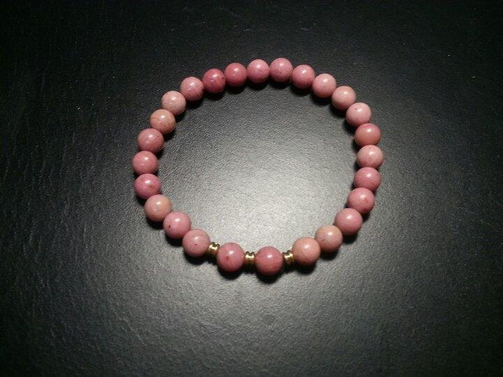 ☆, .- * '108 perles rose / Rose Stone lap section
