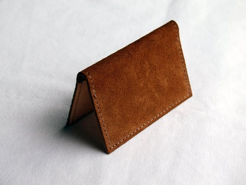 [ weekenlife ] - Leather Card Case ( Custom Name ) - Wild Original