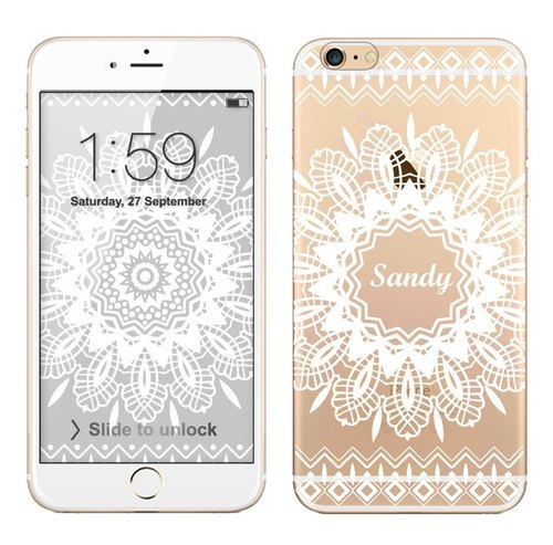 Transparent Phone Case (additive name) - Lace no.8 (background download)