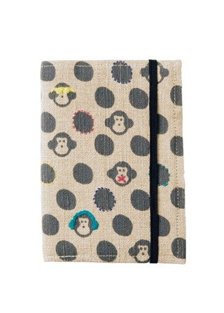 "Earth tree fair trade- ""groceries Series"" - hand-woven linen embroidered monkeys calendar 2016 Manual"