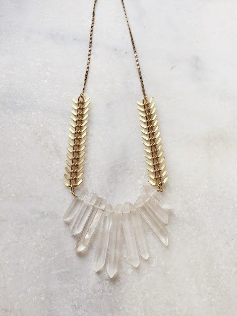 Fyntage-Revival white crystal necklace