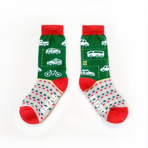 Grew up want to do - driver / bright green / dream Giants series socks