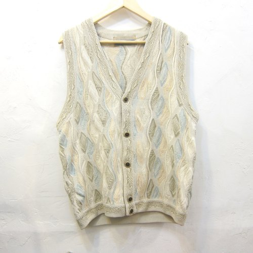Prairie Song ✵ ✵ national wind forest department mixing vintage stereo corrugated knit vest neutral section