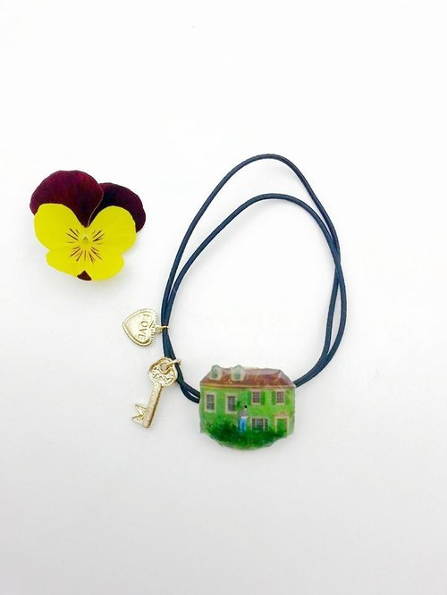 [Lost and find the villain] green hut meadow keys Love Strap headdress