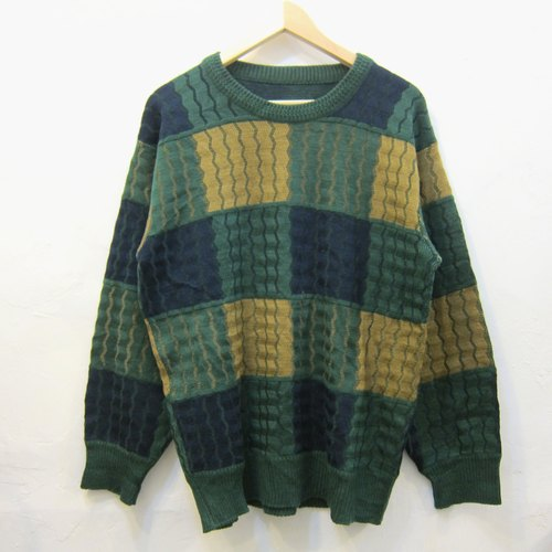 ❄ ❄ pineapple plaid knit sweater vintage