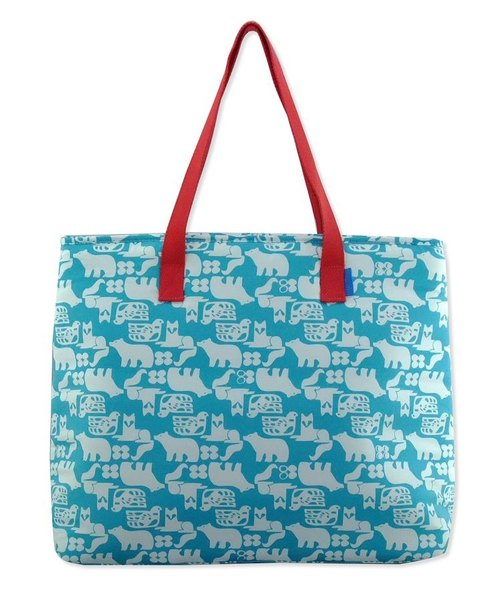 Frochaud - Insulated bag, shopper bag, mother bag (Skyblue bear)