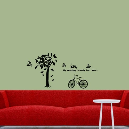 """Smart Design"" Creative trace tree and bike wall stickers ◆ 8 color options"