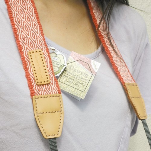 [Manual] madder dyed organic cotton fabric camera strap