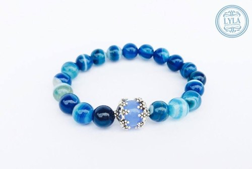 """Blue color stone"" elegant sapphire blue section"