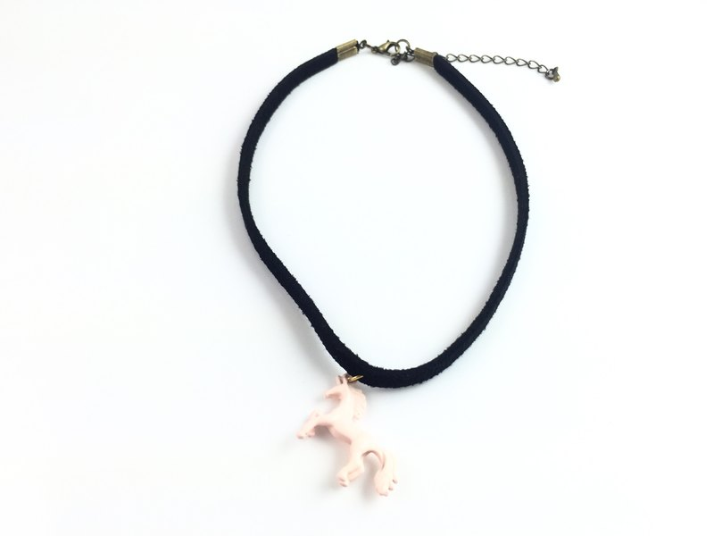 """Pink color Pony Necklace"""