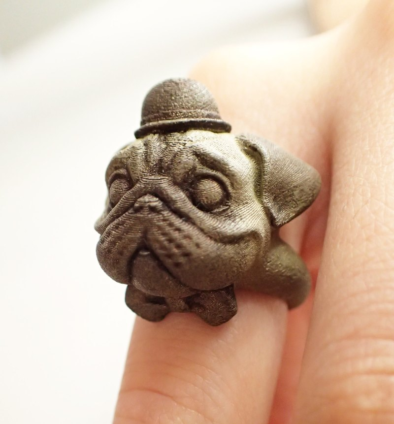 Three-dimensional modeling benefit poor print - brass ring Pugs